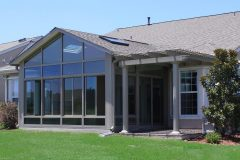 Gable Sunroom with Pergola_L J Stone