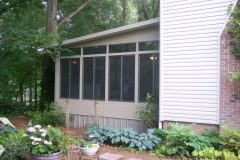 Three season sunroom exterior