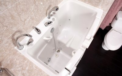 Walk in tub interior white