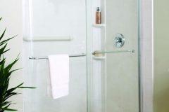 White Walk in Shower - Sliding Shower Door_jpeg