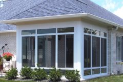 White sunroom enclosed porch