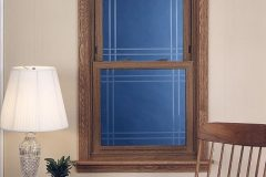 Wood Grain Double Hung Window w Beveled Glass_jpeg
