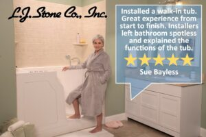 LJ Stone Walk in bathtub review